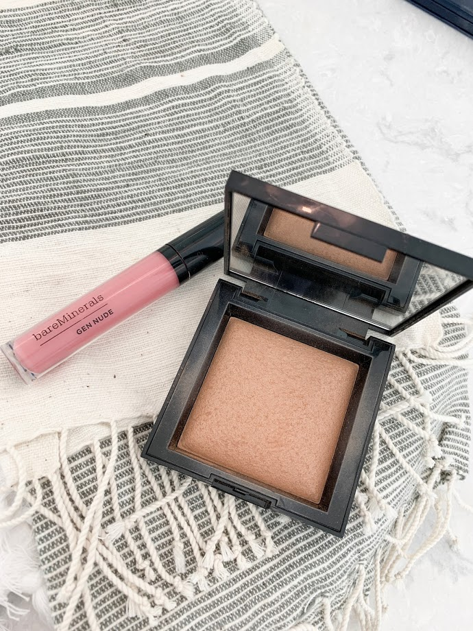 bare minerals lipgloss and bronzer