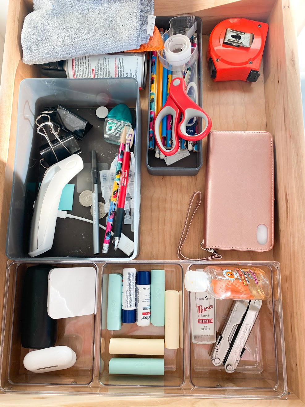 drawer storage and declutter