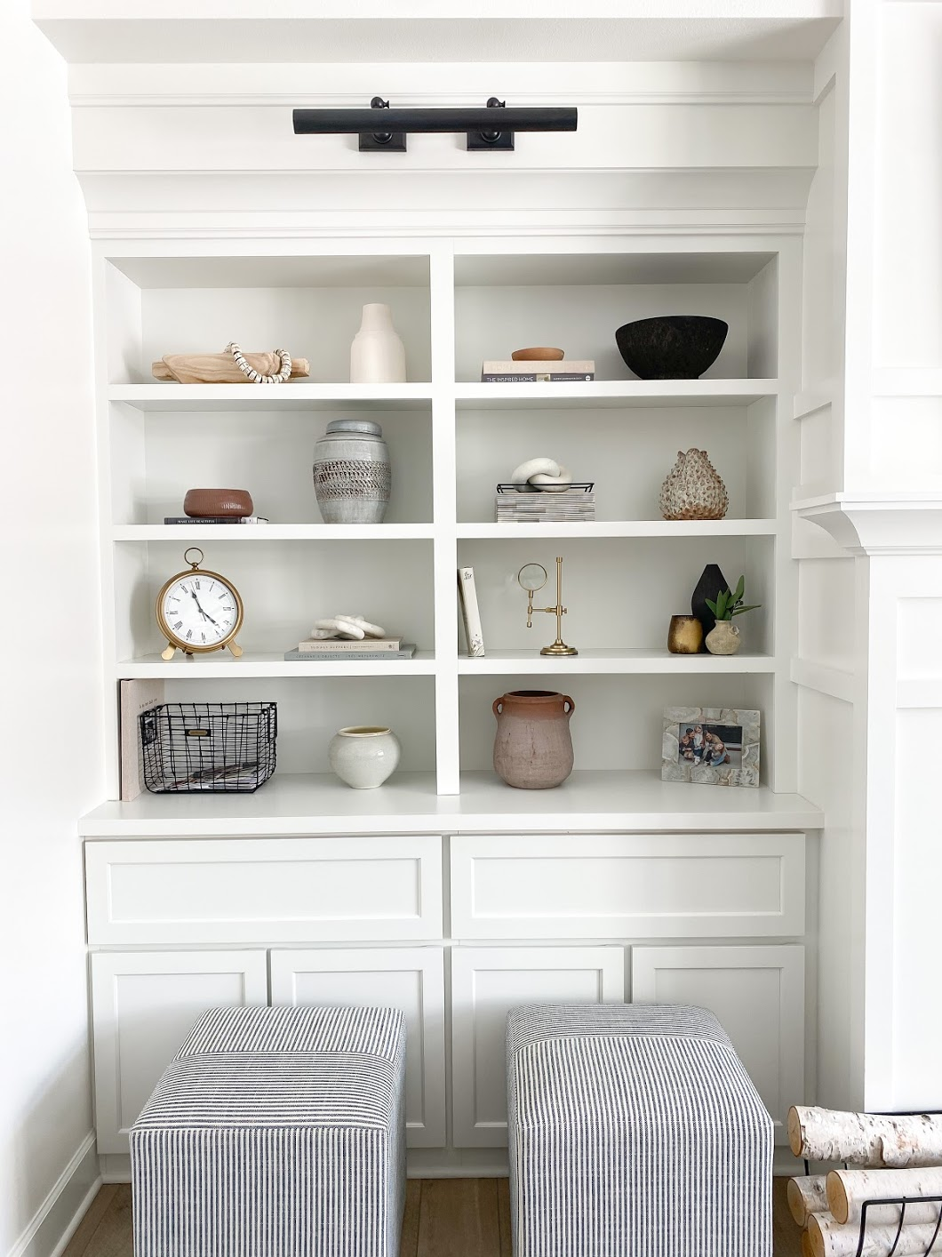 shelf decor, shelf styling